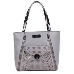 NICOLE LEE SANNE ROCKSTUD FLIP-LOCK SHOPPER BAG